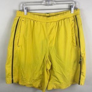 Lululemon Athletica Yellow Workout Shorts Large